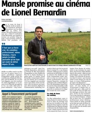 Coupure de presse « A Terre Promise » La Charente Libre