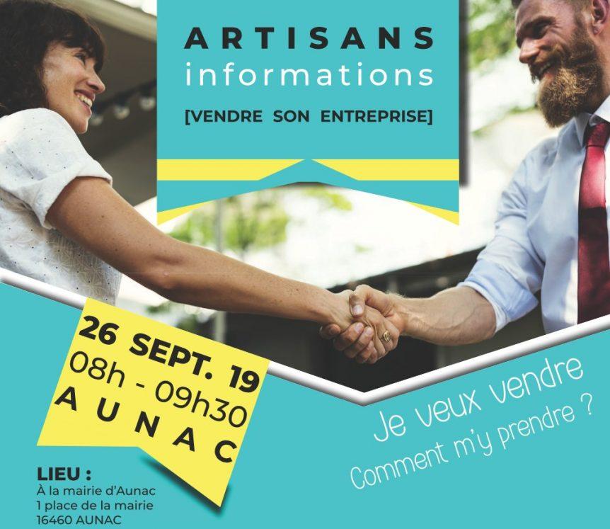 Réunion d'information, vendre son entreprise en Charente
